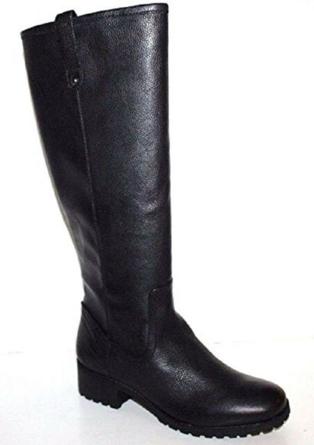 GH Bass NIB Women Nellie Black Leather Riding Boots w/ Treaded Sole