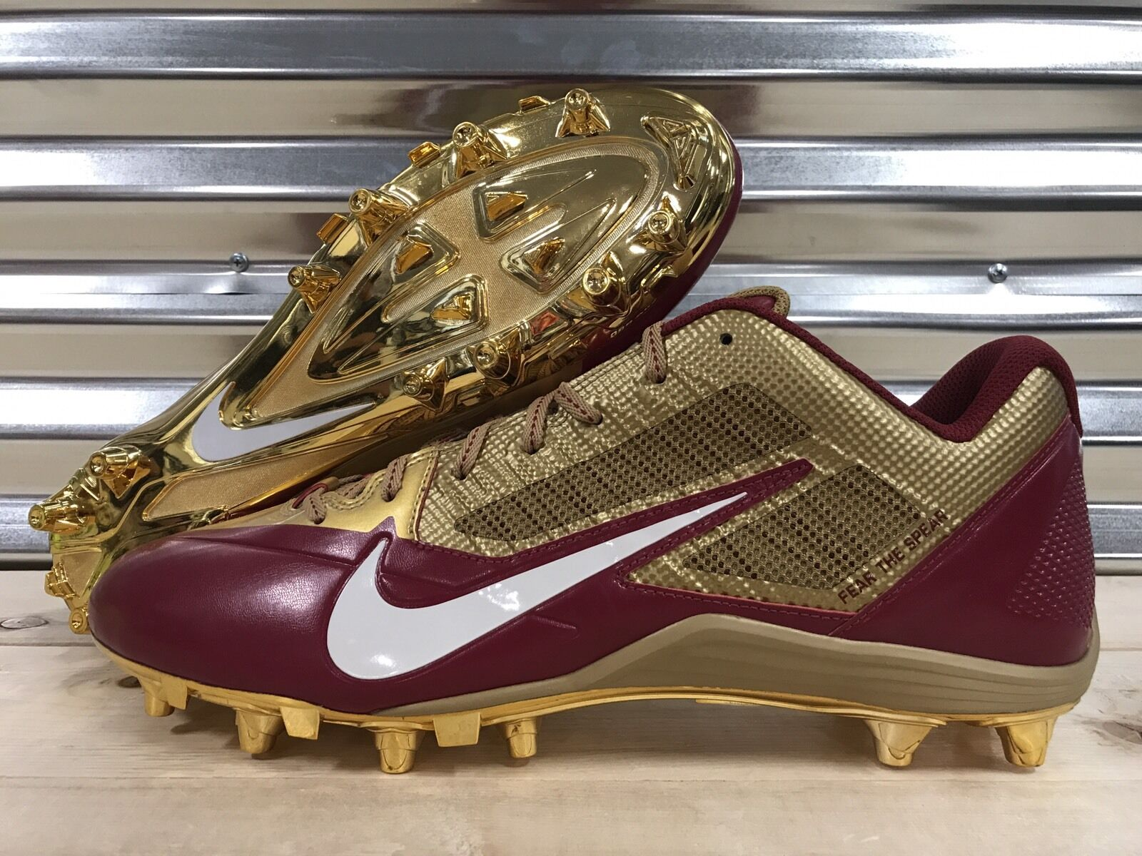 Nike Alpha Pro Low TD FSU Football Cleats Florida State Seminoles Sample SZ 16