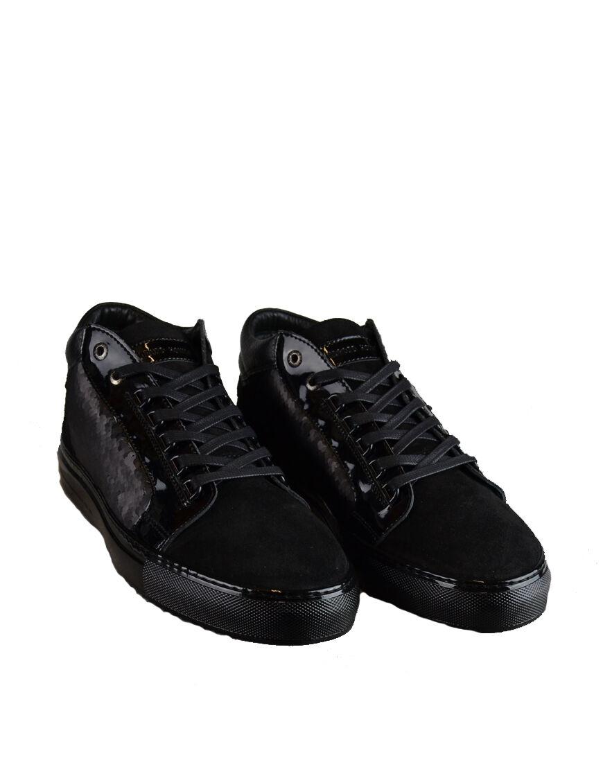 Herren ANDROID HOMME 'Propulsion' Mid Top Sneakers Schwarz (ahfw002)