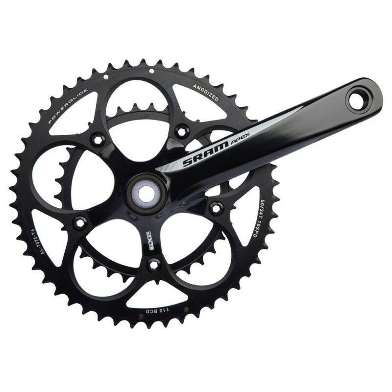 SRAM Apex Chainset Crankset 50-34T 175mm BCD 110mm inc GXP BB