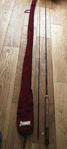 """bruce walker salmon & seatrout 10'6"""" 7/9 fly fishing rod excellent condition"""