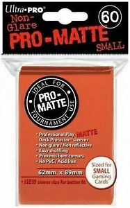 Ultra Pro 60 PEACH PRO-MATTE Small Size Deck Protector NEW Gaming Card Sleeves