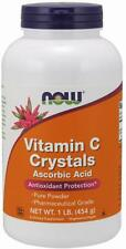 Now Foods Vitamin C Crystals 16 oz (1 LB) Immune Antioxidant STOP COLDS, VIRUSES
