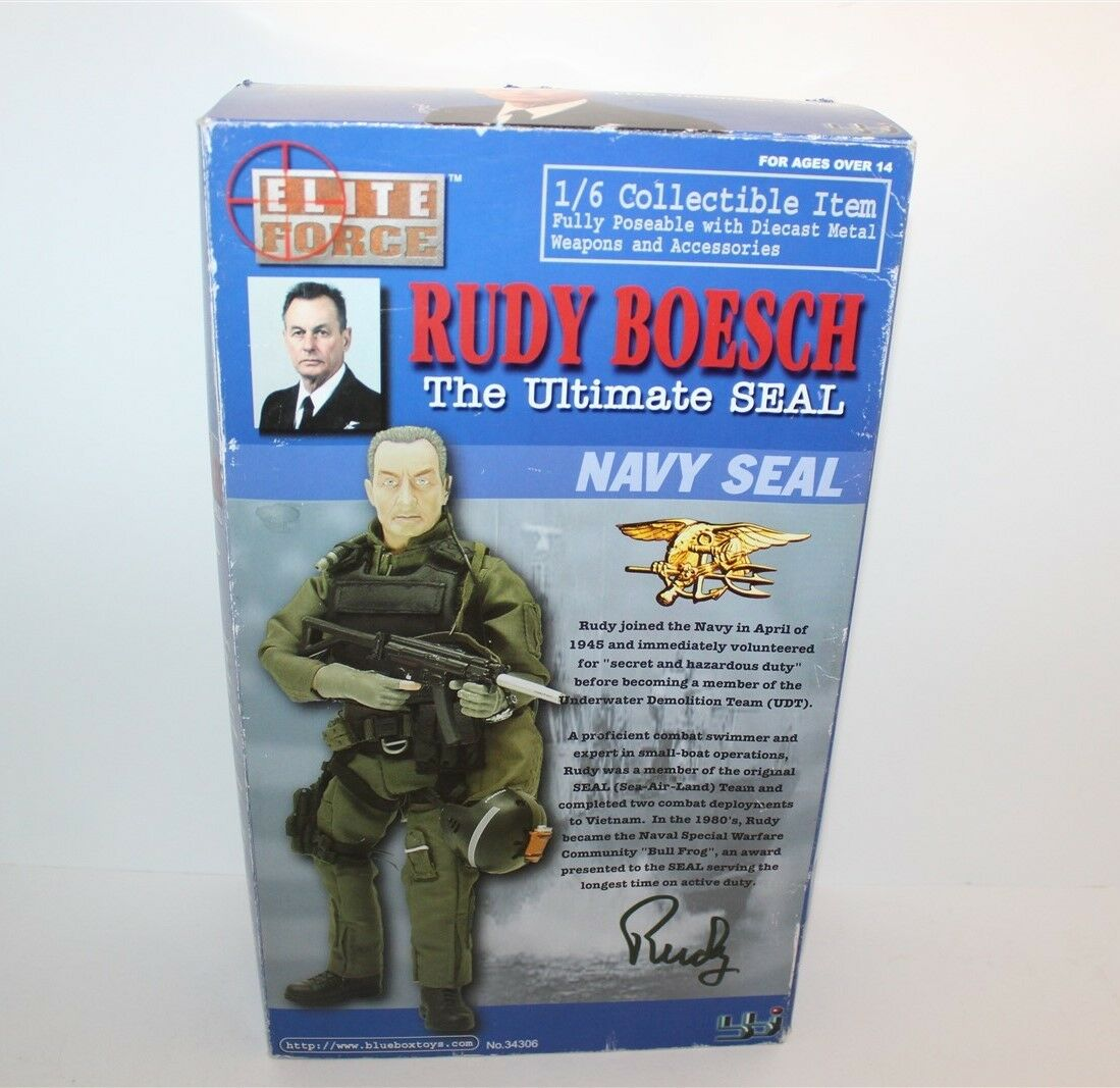 Elite Force Rudy Boesch The Ultimate Seal Action Figure blu Box Toys Scale 1 6