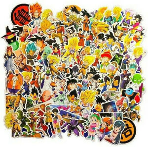 100-Lot-Dragon-Ball-Z-GT-Laptop-Wall-PS4-XBOX-Phone-Decal-Character-Sticker-Pack