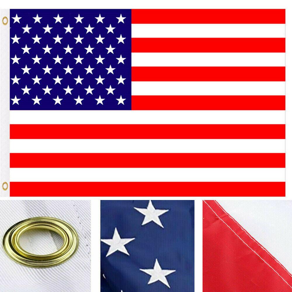 American Flag 3/'x5/' FT USA US U.S Sewn Stripes Stars Brass Grommets