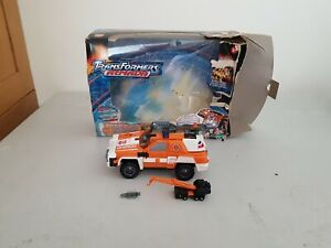 Boxed Transformers Armada POWERLINX LONG ARM / RED ALERT complete