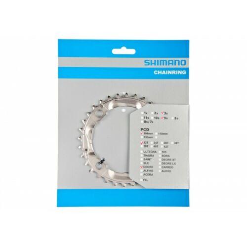 Corona Shimano DEORE 32-4 FC-M590 32 denti 9-velocità argento