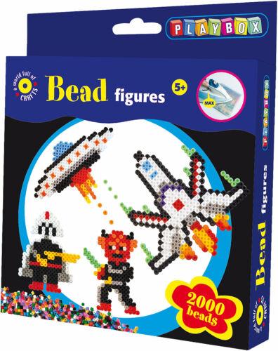 Neu Playbox Bügelperlenset Weltraum 2.000 Perlen /& Zubehör 6666468