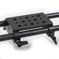Tripod Mounting Cheese Plate Rod Clamp fr 15mm Rod Support DSLR Rig Follow Focus