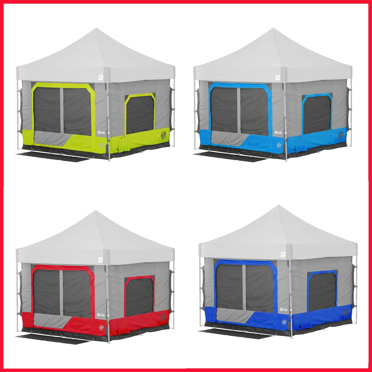 [No Tax] E-Z  UP Camping Cube 6.4, Straight Leg with Carry Bag  special offer