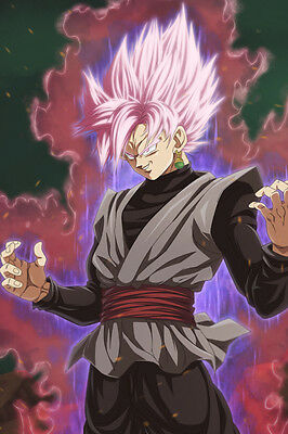 Dragon Ball Super Poster Goku Black Weapon w//dragon balls12inx18in Free Shipping