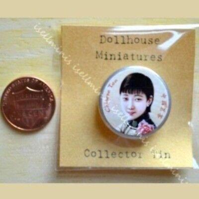 E Dollhouse miniature Oriental accessories 1:12 Chinese Tea Tin