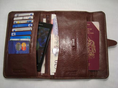 Leather Man/'s Jacket//Coat Wallet Large Branded Golunski Bifold Tan Colour