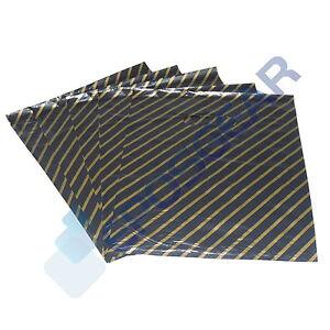 100-Medium-Black-Gold-Gift-Fashion-Plastic-Carrier-Bags