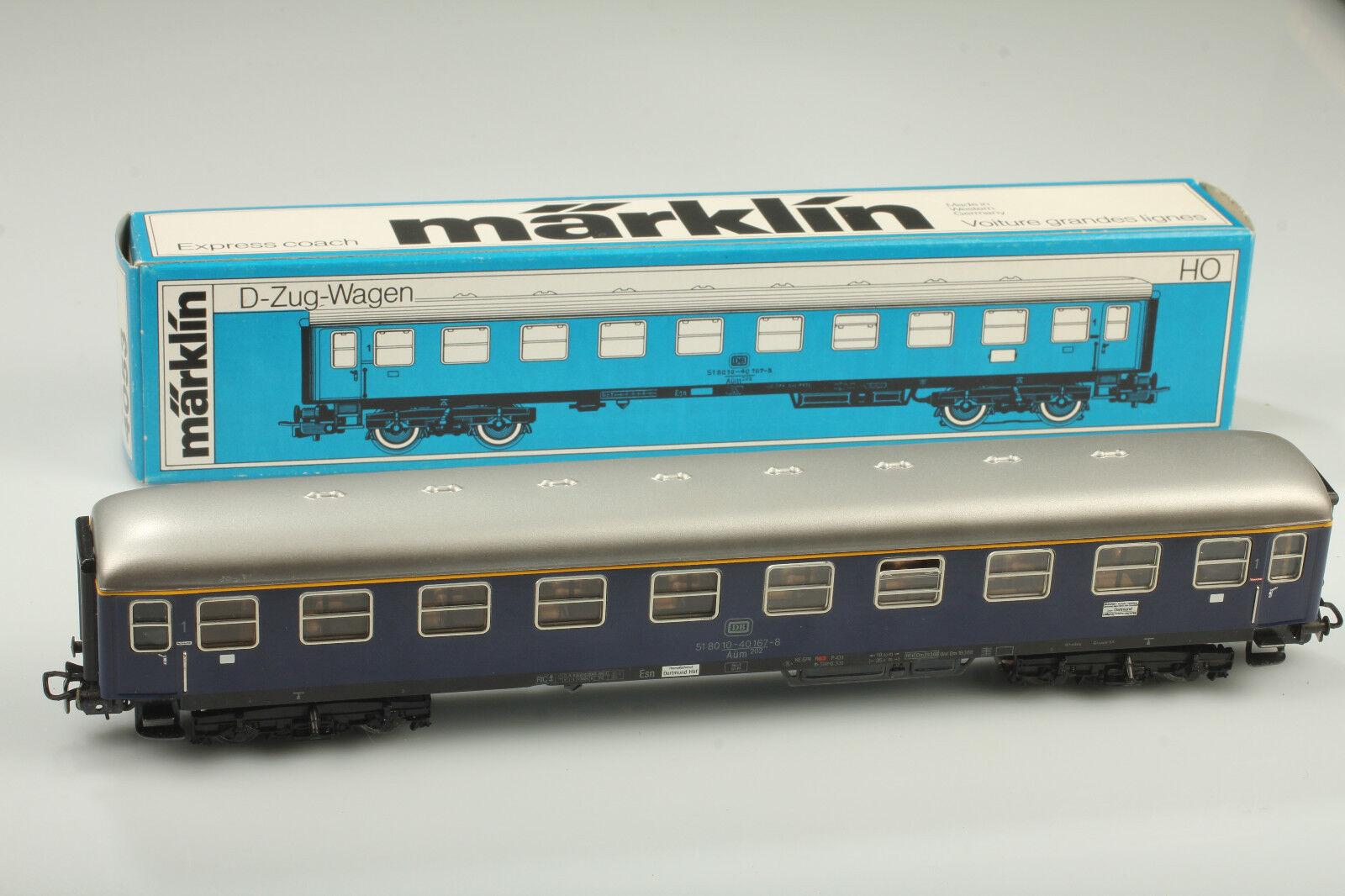 H0   4053 Classic D-Vagone Treno con Fanale Posteriore Video Osservare