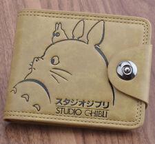 Anime Studio Ghibli Totoro Wallet Purse Zipper Coin Handbag Holder Button