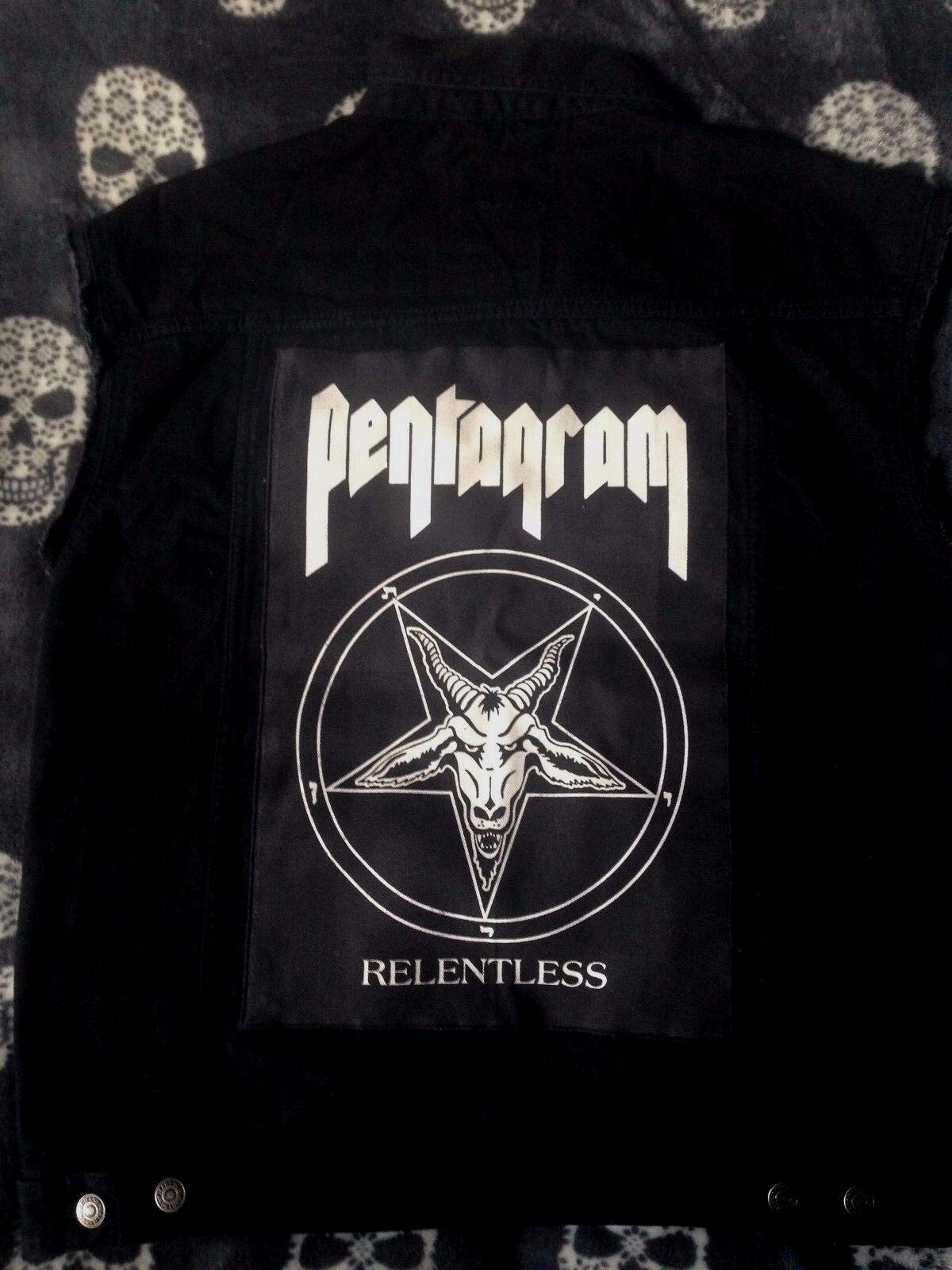 Pentagramme Sans Doom Metal Denim Cut-Off Sans Pentagramme Manches bataille Veste Gilet Vest S-4XL 9175ca