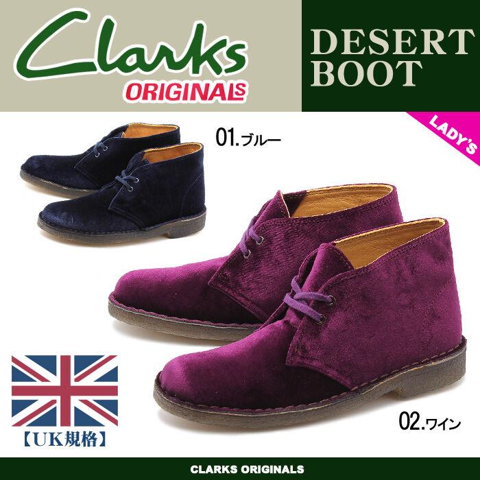 Clarks x originali donna x Clarks Stivali Desert Boots BLU SINTETICHE 2509ae