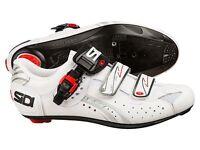 Sidi Genius 5-fit Carbon Road Shoes Size Uk 11,5 / Eu 48 White