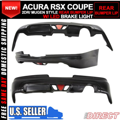 For 05-06 Acura RSX Coupe 2Dr Mugen Style Rear Lip With Led Brake Light