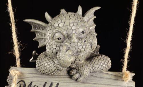 Dragon jardin personnage pour pendre-bienvenue bouclier-Fantasy deco porte jardin