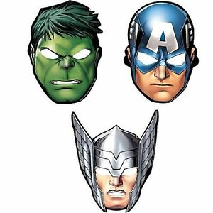 The-Avengers-Party-Masks-8-pack-Marvel-Avengers-Party-Supplies