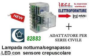 LAMPADA NOTTURNA INCASSO FRUTTO PER BTICINO AXOLUTE NERA 1IOFjoa6-07132749-614511097