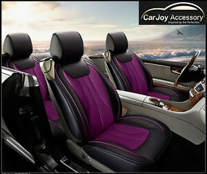 Image Is Loading Purple Car Seat Cover Front Back 5 Seats