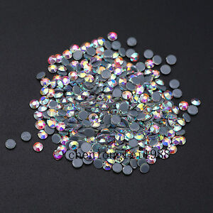 24186d225e Crystal AB Iron On Hotfix Rhinestones Hot Fix Flatback White Clear ...