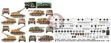 Peddinghaus 1/35 Sd.Kfz.165 Hummel German SPG WWII Markings (5 vehicles) 2353