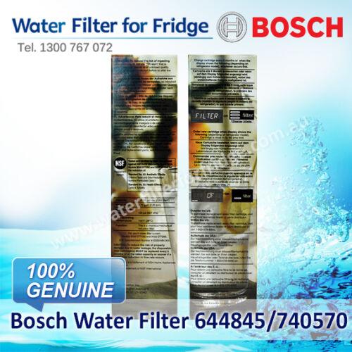 BOSCH  FRIDGE FILTER  FOR  KFN91PJ10A//KA62DP90AU 9000-077104 UltraClarity Fridge