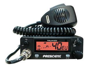 Radio-CB-PRESIDENT-TRUMAN-ASC-40-Multi-Channel-ASC-UK-EU-12-V-FM-AM