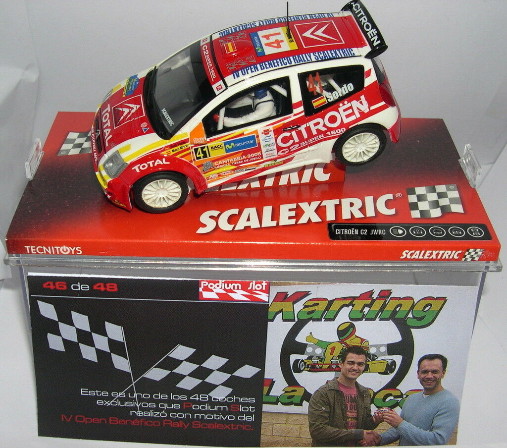 SCALEXTRIC CITROEN OPEN C2 IV OPEN CITROEN NÄCHSTENLIEBE RALLY PODIUM SLOT 48 UNITS 9619c4