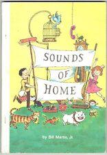 Vintage Children's Reader Book SOUNDS OF HOME Bill Martin, Jr.