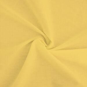 Tissu-popeline-100-coton-jaune-Tissu-coton-jaune-Par-coupon