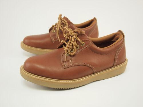 marron cuir à années 5 1980 semelle vintage en 8 Richelieus des po compensée Nouveau wqYTxfXg