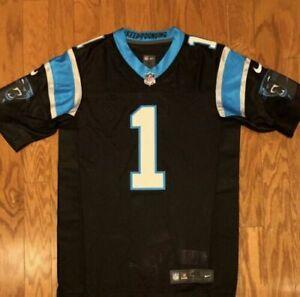 newest f1b60 401b6 Carolina Panthers Home Jersey Cam Newton Nike Elite Size 40 ...