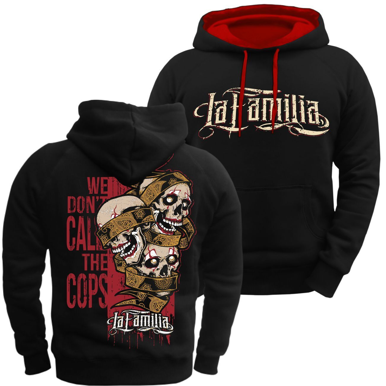 Kapuzenpullover La Familia we dont call the the the cops Tattoo 31er Kodex Loyal Hoodie  | New Style  | Lebensecht  | Vielfältiges neues Design  19d345