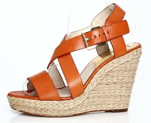 30a61747836 Michael Kors Giovanna Espadrille Wedge Platform Sandal Orange Women ...