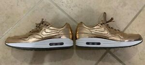 Details about NIKE AIR MAX 1 GOLD NIKE ID bronze copper rose gold US size 9