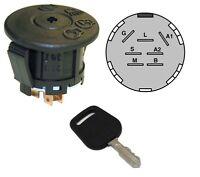 Ignition Starter Switch & Key Fits John Deere Sabre 14.542gs 1642hs 1742hs Mower