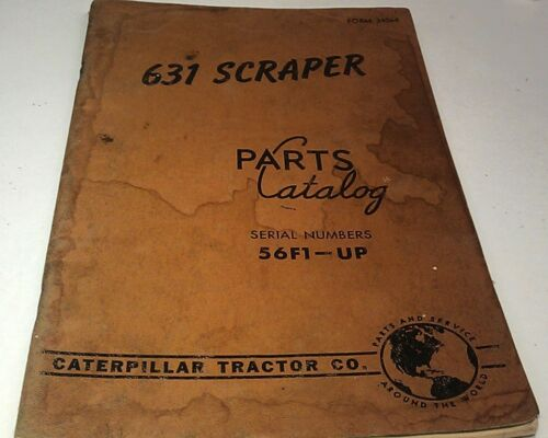 1960 CATERAR 631 SCRAPER Parts Book