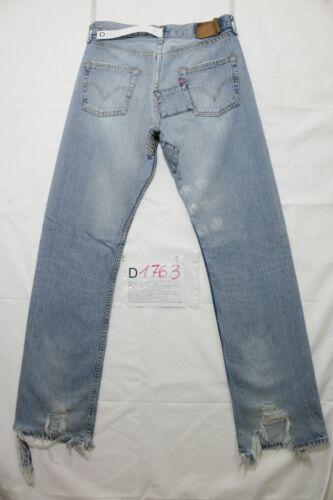 W30 d1763 En Cod Patch L34 Droit Jeans Levi's 501 D'occassion N8nXZOP0wk