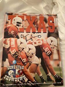 1999 Texas Longhorns Signed Football Program Aaron Humphrey Vs Texas A And M