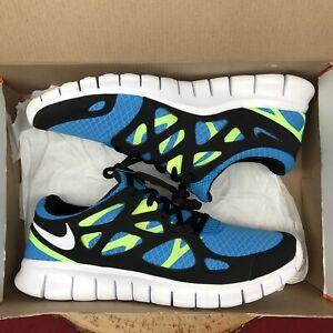 8e179ece03b0 Nike Free Run 2 Sprite Blue Green Volt Size 9.5 443815 411