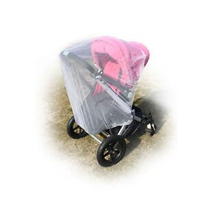 Fliegengitter-Kinderwagen-Insektenschutz-Universal-Moskitonetz-Mueckenschutz-weiss