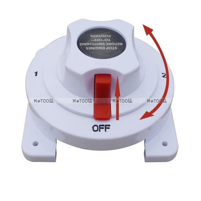 12//24V Battery Selector Switch 4 Position for Boat//Caravan//Motorhome//Marine