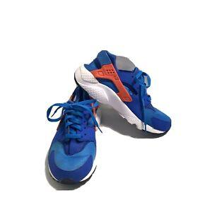 blue and orange nike huarache