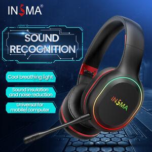 Insma P80s Headphone Led Bluetooth Wireless Gaming Headset Surround Sound W Mic Ebay